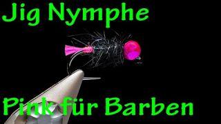 Fliegenbinden // Barben Jig Pink